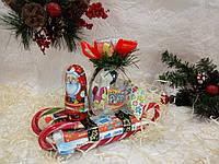 Новогодние сани из сладостей №5