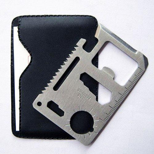 Кредитка мультитул (11 в 1) Нож - кредитная карта, карта выживальщика