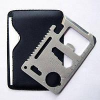 Кредитка мультитул (11 в 1) Нож - кредитная карта, многофункциональный