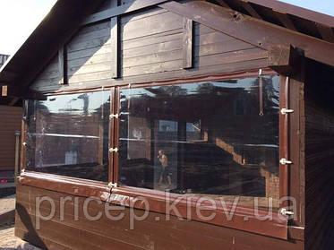 Прозрачная ПВХ плёнка для завес окон штор на беседки, веранды, террасы, пристройки.
