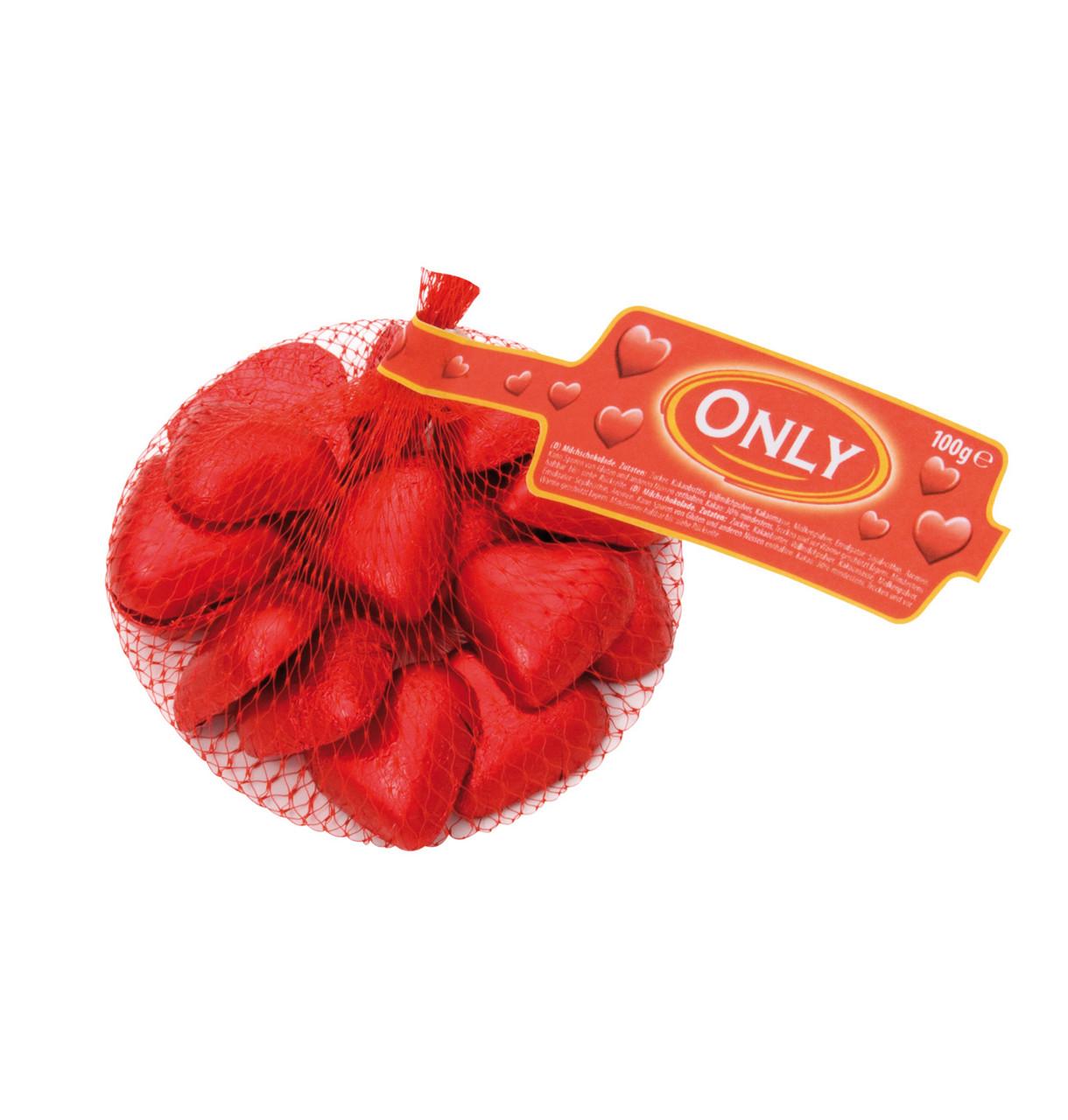 Шоколадные сердечки ONLY Hearts, 100 г. - интернет- магазин «BRAND stock» в Тернопольской области