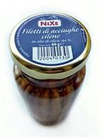 Анчоусы в оливковом масле Nixe Filetti di Acciughe Cilene, 80 г (Италия)