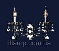 Светильник настенный , бра с хрусталем Art702lstW1315_2СН