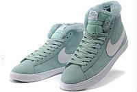 Зимние женские кроссовки Nike Blazer Grey Winter