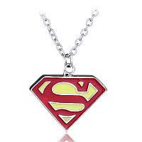 Кулон Супермен Superman красный