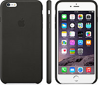 """Оригинальный силиконовый чехол для Apple iPhone 6/6s Soft Touch (4.7"""") Черный"""