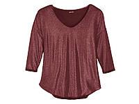 Женская блуза с блестками Esmara, бордовая рр. S, M
