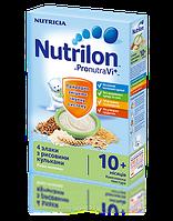 Каша молочная Nutrilon 4 злака с рисовыми шариками  225г.