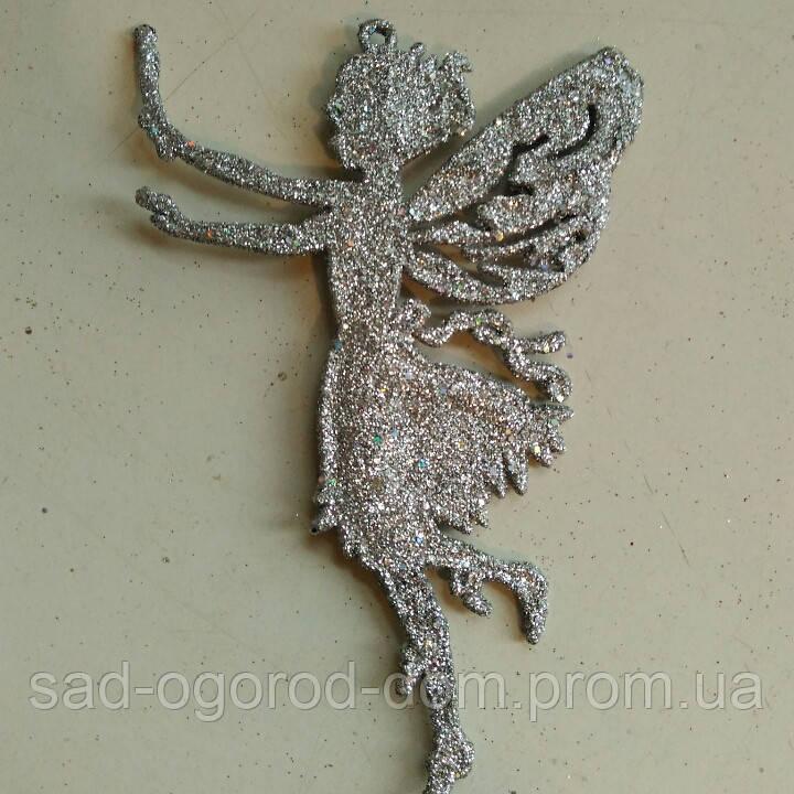 Ангел на ёлку с глиттером 12шт.