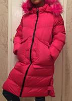 Зимнее теплое на меху пальто на девочку ТМ Grace Венгрия. Рост 122 - 164