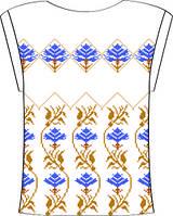 Блузка женская с треугольн.вырезом 825-14/09 разм.40 (белая)схема 45/46/47/48/49
