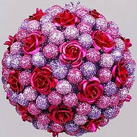 """Украшение-шар """"Розовое конфетти"""" Ø 8 см., фото 1"""
