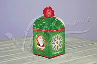 Коробка для новогодних подарков, зеленая