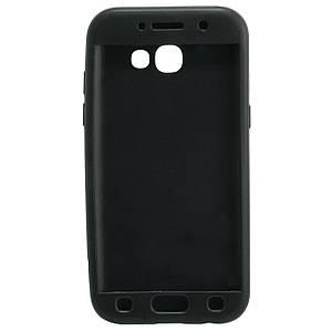Чехол накладка для Samsung Galaxy A5 2017 A520 силиконовый матовый 360 Defense, ROCK, черный