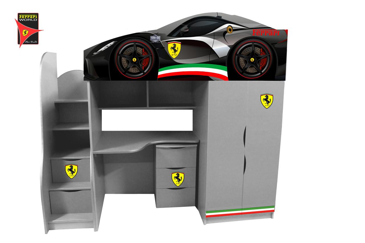 """Кровать-чердак  Bed Room -1""""Ferrari """" (серия Бренд  )"""