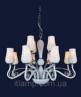 Люстра в белом цвете стекло Art720lstP8034_12