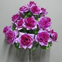 Роза раскрытая (14 голов) букет искусственный