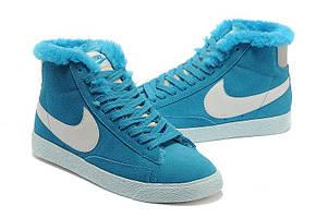 Зимние женские кроссовки Nike Blazer Violett Winter