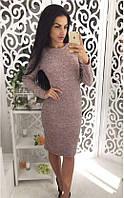 Платье миди ангора персик (091)