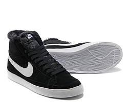 Зимние женские кроссовки Nike Blazer Black Winter