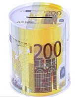Железная копилка банка 200 евро