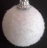 """Украшение новогоднее """"Снежный шар""""  Ø3,5cm (пенопласт)"""