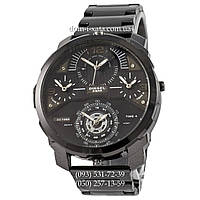 Мужские наручные часы Diesel DZ7361 Steel All Black, кварцевые, элитные часы Дизель Стил Брейв