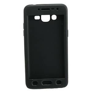 Чехол накладка для Samsung Galaxy J2 Prime G532 силиконовый матовый 360 Defense, ROCK Черный
