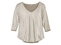 Женская блуза с блестками Esmara, св. бежевая рр. S, M