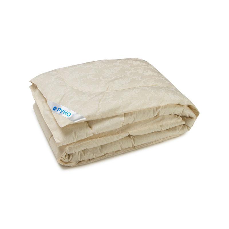 Одеяло силиконовое Руно молочное демисезонное бязь 140х205 полуторное