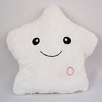Плюшевая детская подушка (ночник)