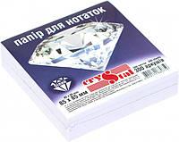 """Папір для нотаток білий CRYSTAL """"Білий"""" 85X85мм 300 аркушів не склеєний"""