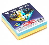 """Папір для нотаток кольоровий CRYSTAL """"Жовто-Блакитний"""" 85Х85 мм 300арк. не склеєний, жовто-блакитний"""
