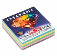 """Папір для нотаток кольоровий CRYSTAL """"Радуга"""" 85Х85 мм 300арк. не склеєний, 4 кольори"""