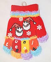 Перчатки детские одинарные для девочки