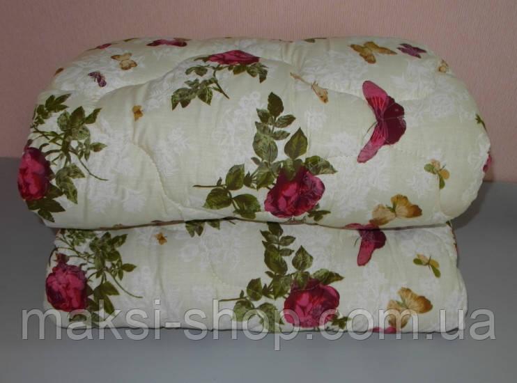 Одеяло  полуторное наполнитель овчина а ткань полиэстр