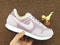 Зимние кроссовки Nike Internationalist Grey Suede