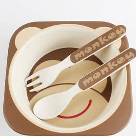 Eco Набор посуды из бамбукового волокна.
