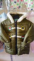 Детская куртка весна на флисе 1-3 года