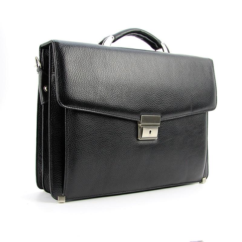 Портфель мужской кожаный черный Canpellini 2026-011 Турция