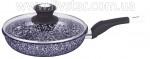 Сковорода 28 см. с крышкой, обе стороны камень гранита покрытия EB-9168