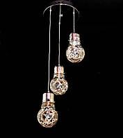 Светодиодный подвес. Люстра диодная подвесная на 3 лампочки AG 3001/5