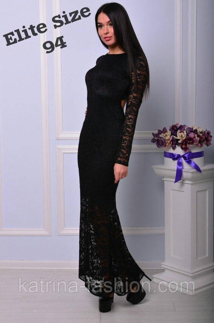 311fa05f3bfcc2d Женское стильное платье в пол из дорогого гипюра с красивой открытой  спинкой (4 цвета)