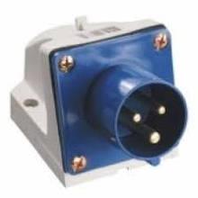 Вилка стаціонарна 513 16А 220-250В 3 контакту (2P + E) IP44 Синій