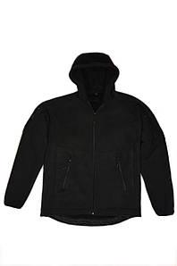 """Тактична флісова куртка з капюшоном """"Панда"""" чорна розмір S"""