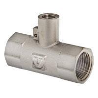 """Фитинг резьбовой – тройник VALTEC 1"""" х M10 х 1"""" для подключения датчика температуры"""