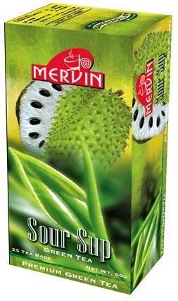 """Зелений чай """"Саусеп"""", Mervin, 2 г х 25"""