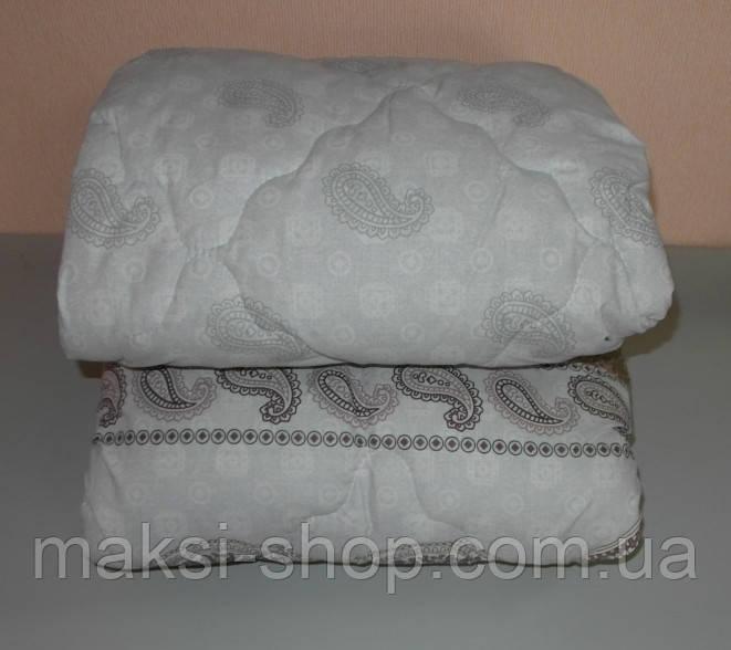 Одеяло  полуторное наполнитель овчина а ткань бязь беж