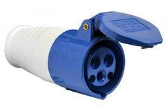 Розетка переносна 213 16А 220-250В 3 контакту (2P + E) IP44 Синій
