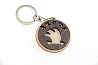 Брелок для ключей деревянный с резным логотипом Skoda (Шкода)